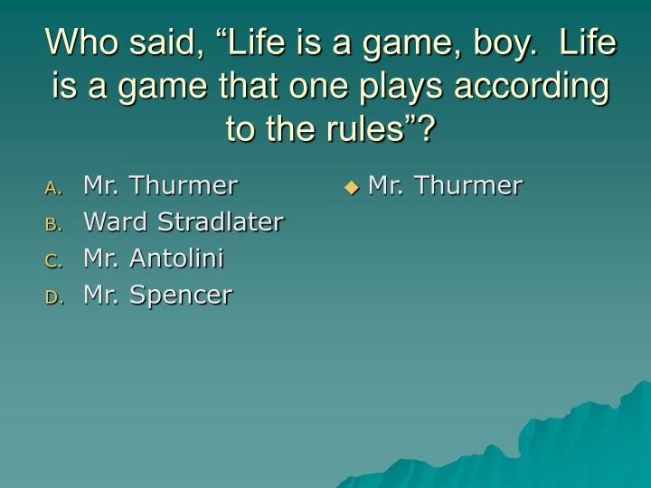 Mr. Thurmer