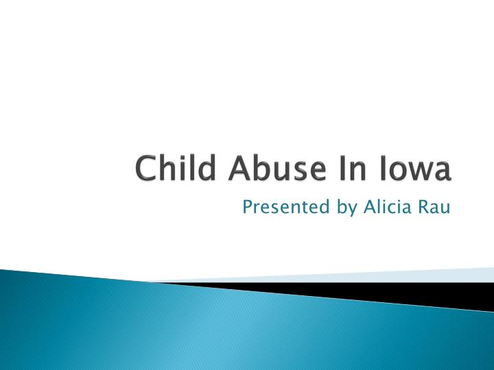 Child abuse in iowa