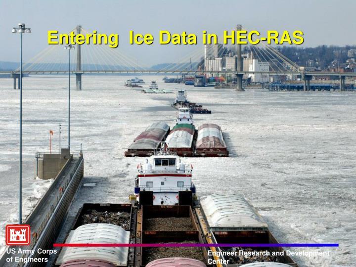 Entering  Ice Data in HEC-RAS