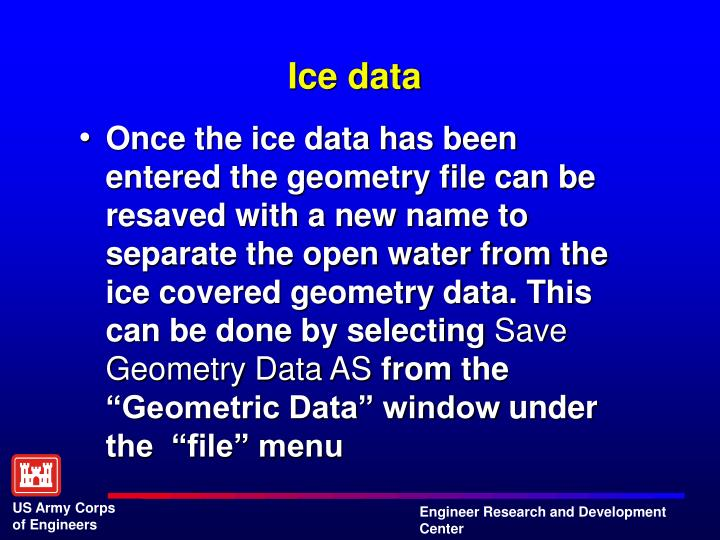 Ice data