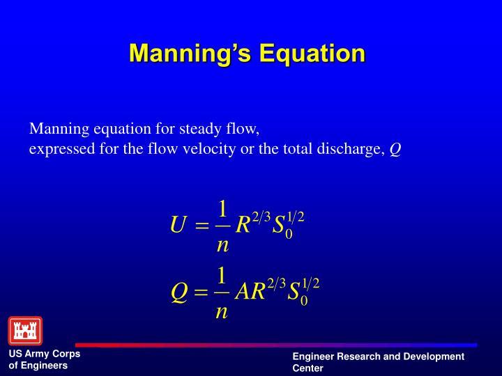 Manning's Equation