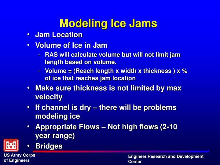 Modeling Ice Jams