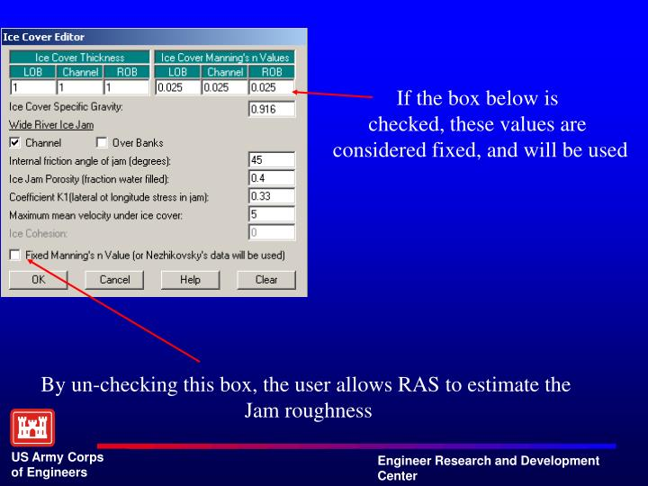 If the box below is