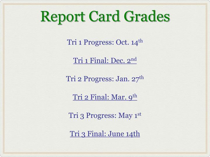 Tri 1 Progress: Oct. 14