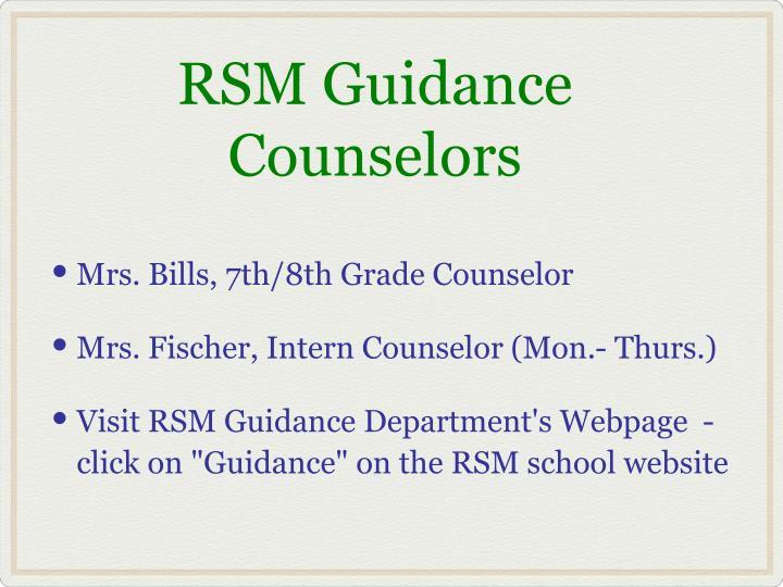 RSM Guidance Counselors
