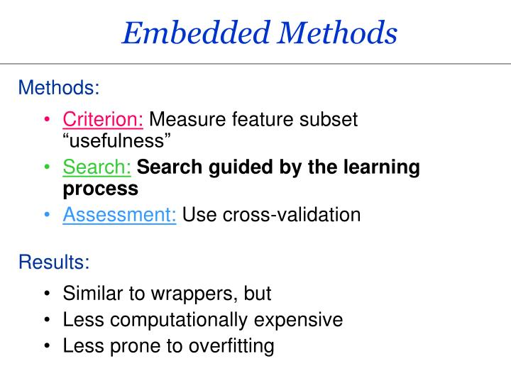 Embedded Methods