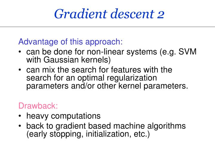 Gradient descent 2