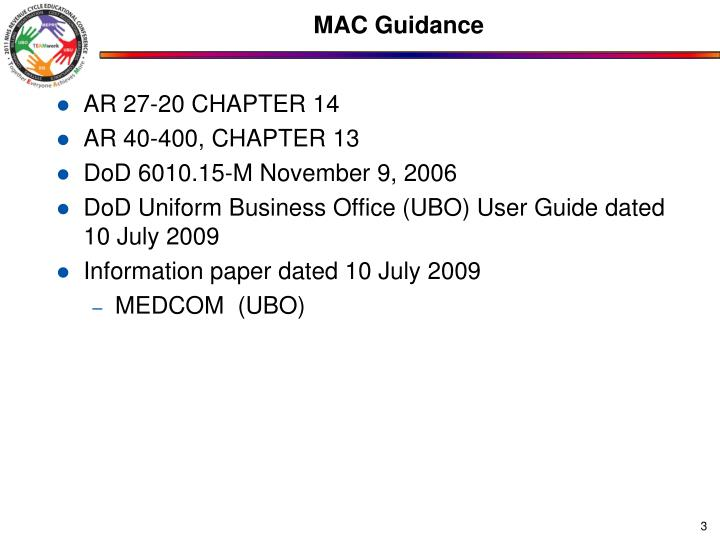 Mac guidance