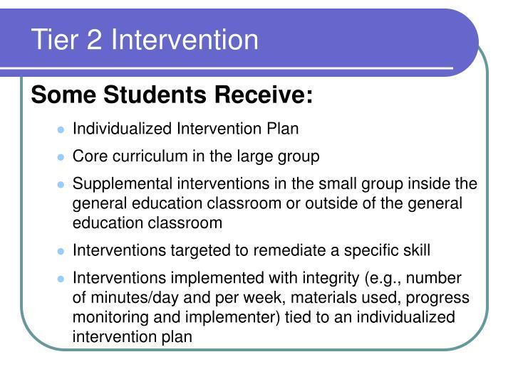 Tier 2 Intervention