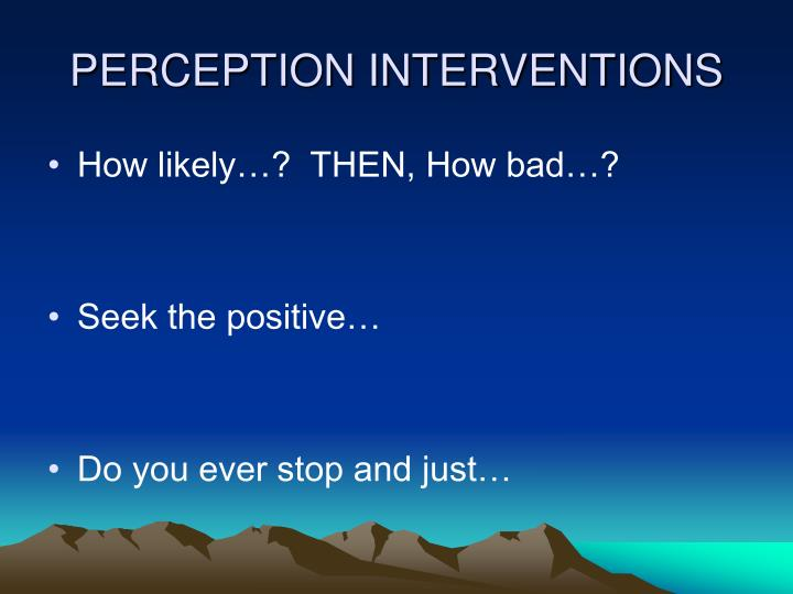 PERCEPTION INTERVENTIONS