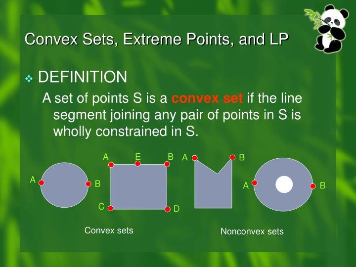 Convex Sets, Extreme Points, and LP