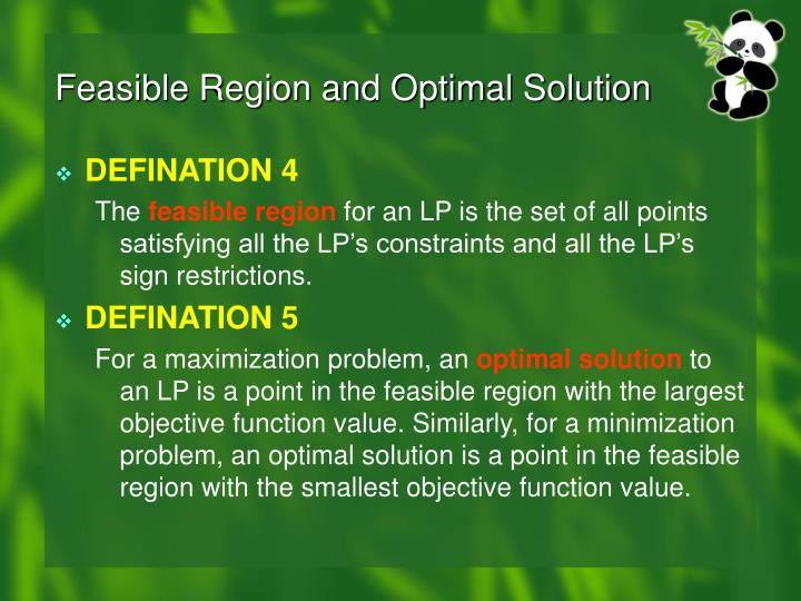 Feasible Region and Optimal Solution