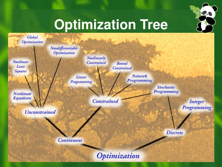 Optimization tree