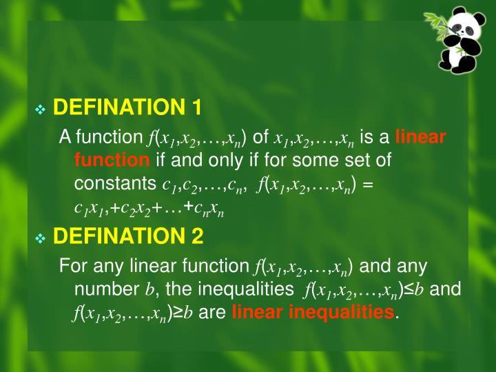 DEFINATION 1