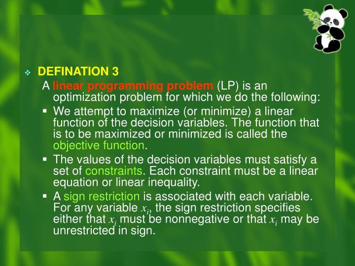 DEFINATION 3