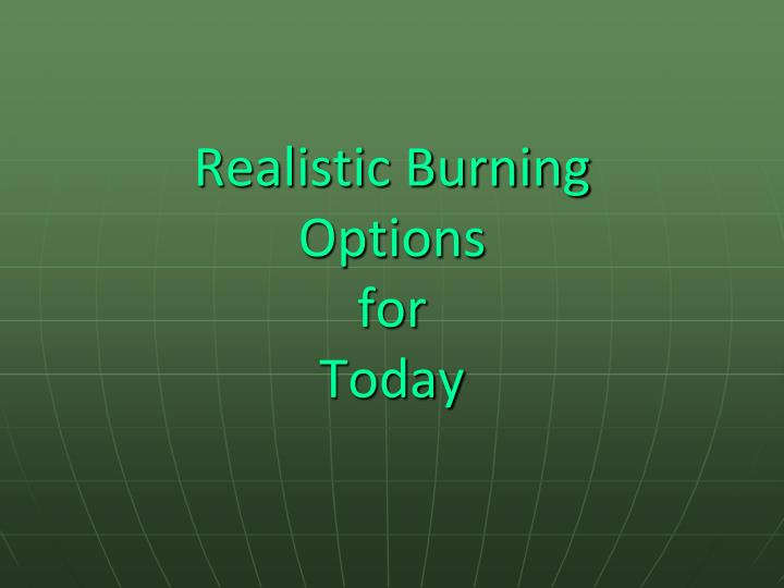 Realistic Burning