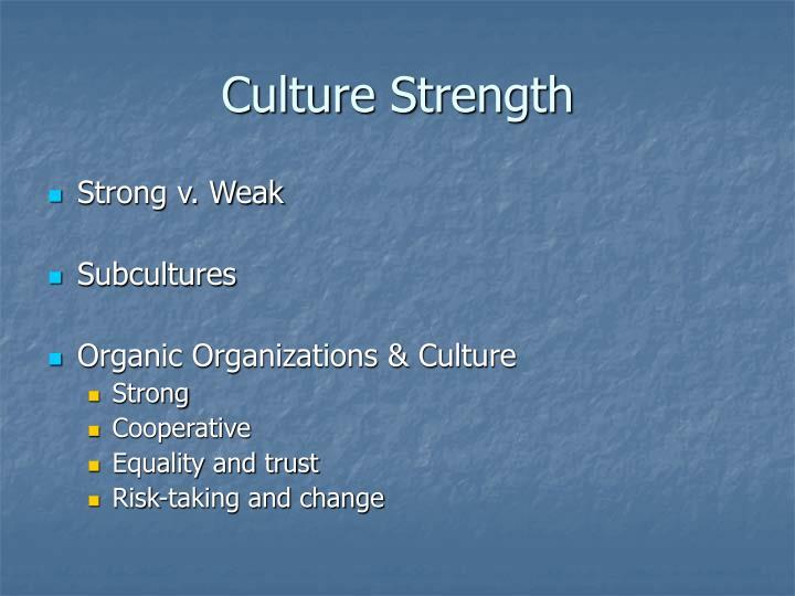 Culture Strength