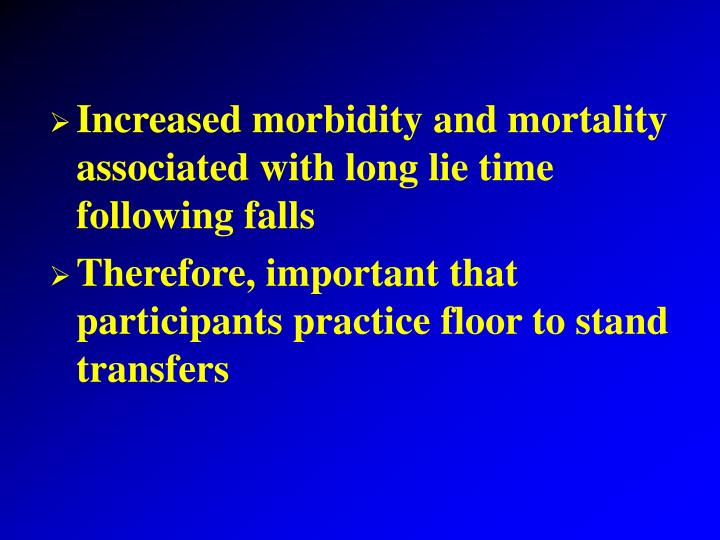 Increased morbidity and mortality associated with long lie time following falls