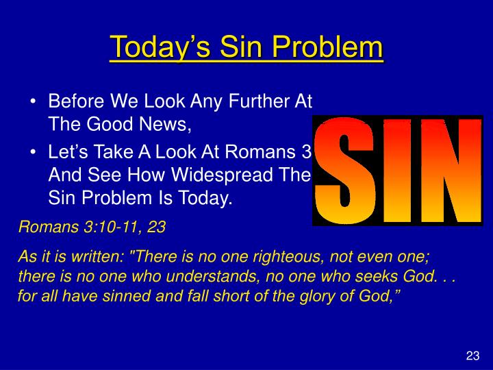 Today's Sin Problem