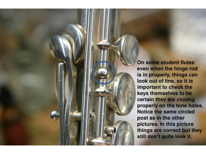 On some student flutes
