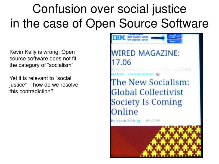 Confusion over social justice