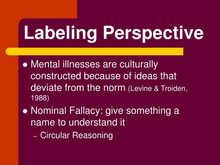 Labeling Perspective