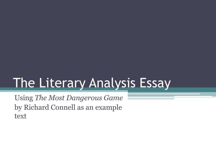 thesis statement for the most dangerous game by richard connell