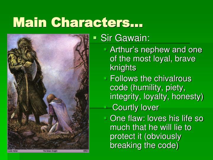 Main Characters…