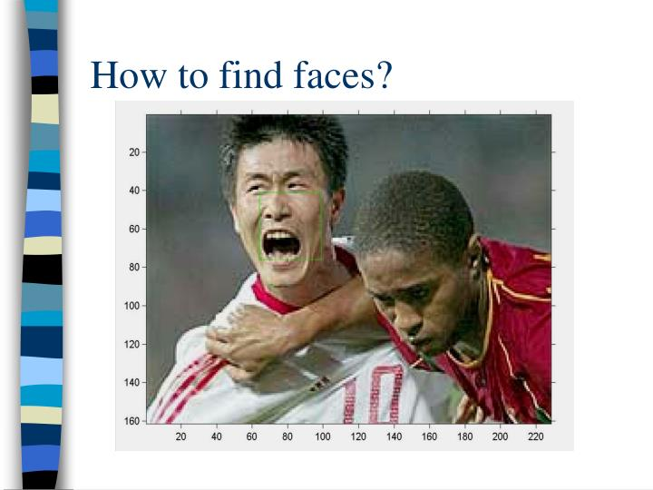 How to find faces