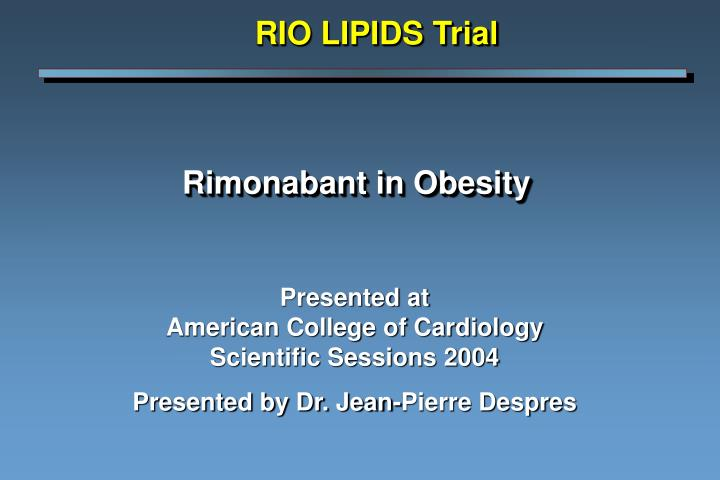 Rimonabant in obesity