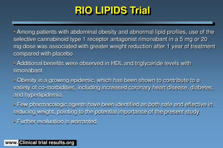 RIO LIPIDS Trial