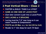 2 post vertical shore class 2