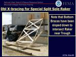 dbl x bracing for special split sole raker