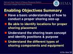 enabling objectives summary
