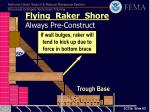 flying raker shore always pre construct