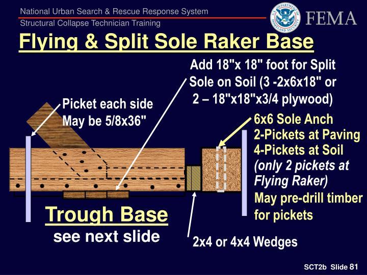 Flying & Split Sole Raker Base