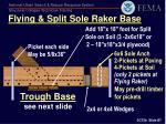 flying split sole raker base