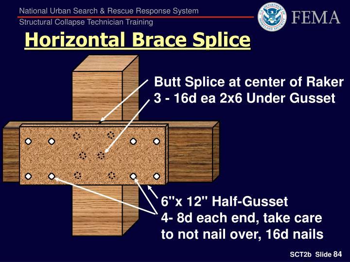 Horizontal Brace Splice