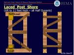 laced post shore 6ft to 11 feet high all half gussets