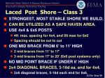laced post shore class 3