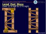 laced post shore over 11 ft high to 17 ft high