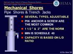 mechanical shores pipe shores trench jacks