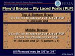 plyw d braces ply laced posts plp