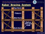 raker bracing system