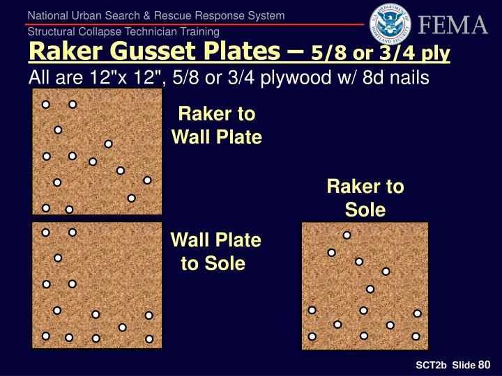 Raker Gusset Plates –