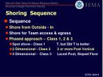 shoring sequence