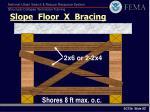 slope floor x bracing