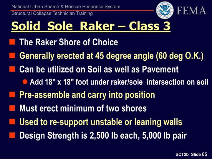 Solid  Sole  Raker – Class 3