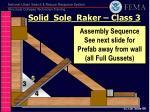 solid sole raker class 31