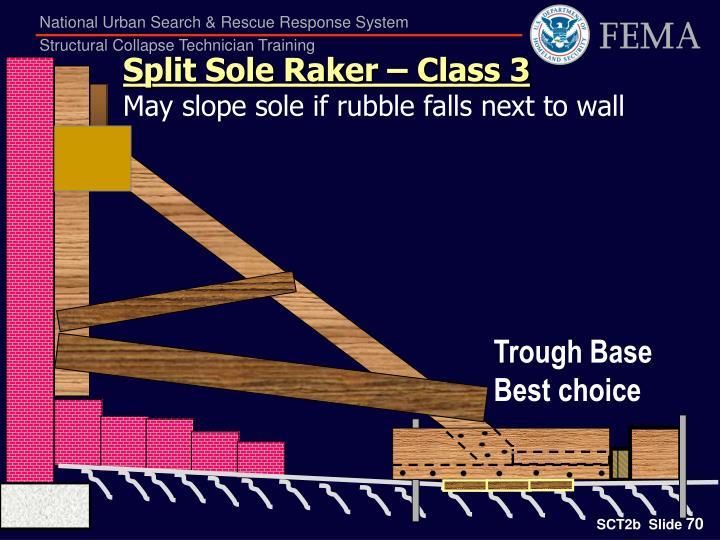 Split Sole Raker – Class 3
